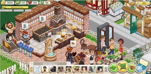 ChefVille screen shots