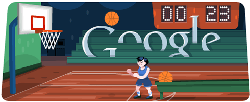 Olympics Google Doodle Basketball