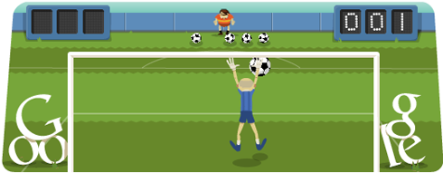 Olympics Google Doodle soccer