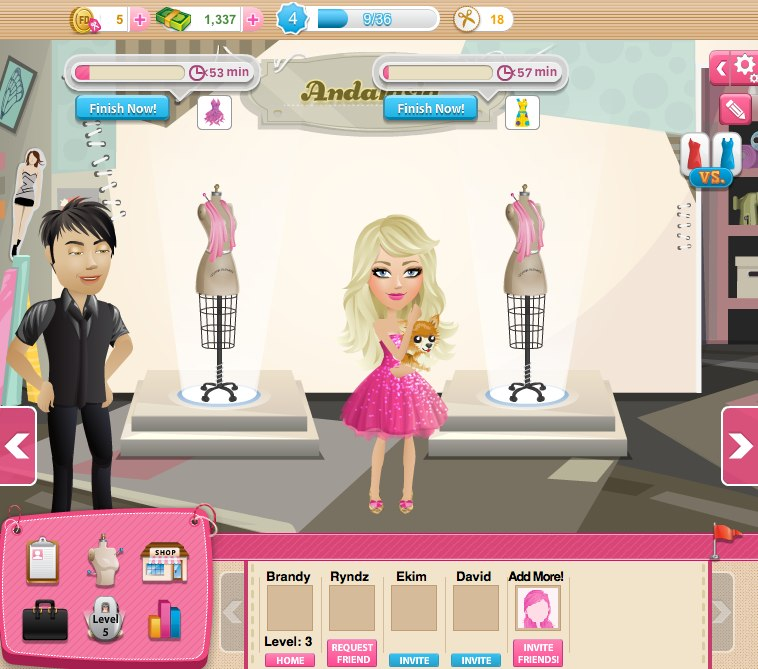 Sharing my world Online fashion designer games