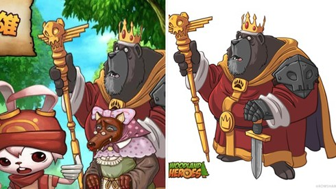 Woodland Heroes copycat screens