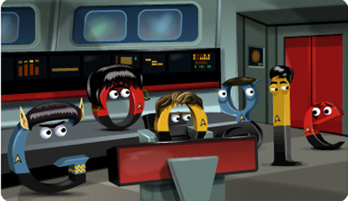 Star Trek Google Doodle