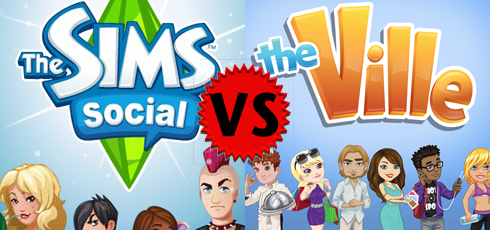 The Sims Social vs The Ville