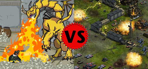 Dungeon Blitz versus War Commander