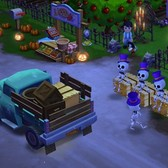 FarmVille 2 dons creepy couture for a Halloween harvest