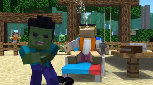 Minecraft Gangnam Style