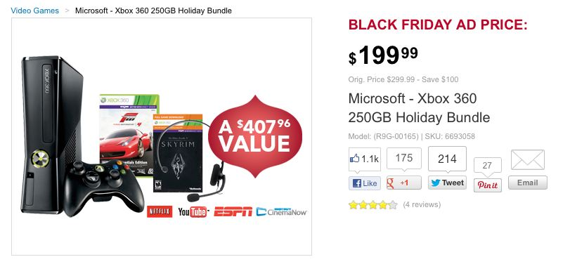 black friday xbox 360 skyrim forza