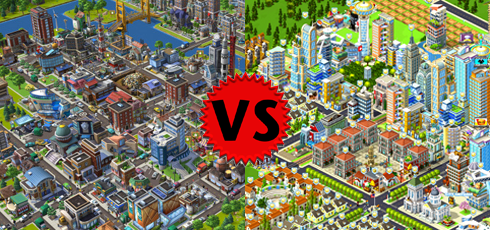 CityVille vs CityVille 2