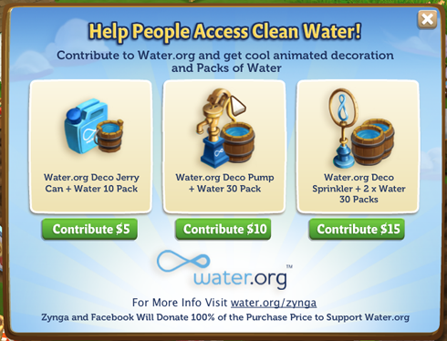 FarmVille 2 Water.org