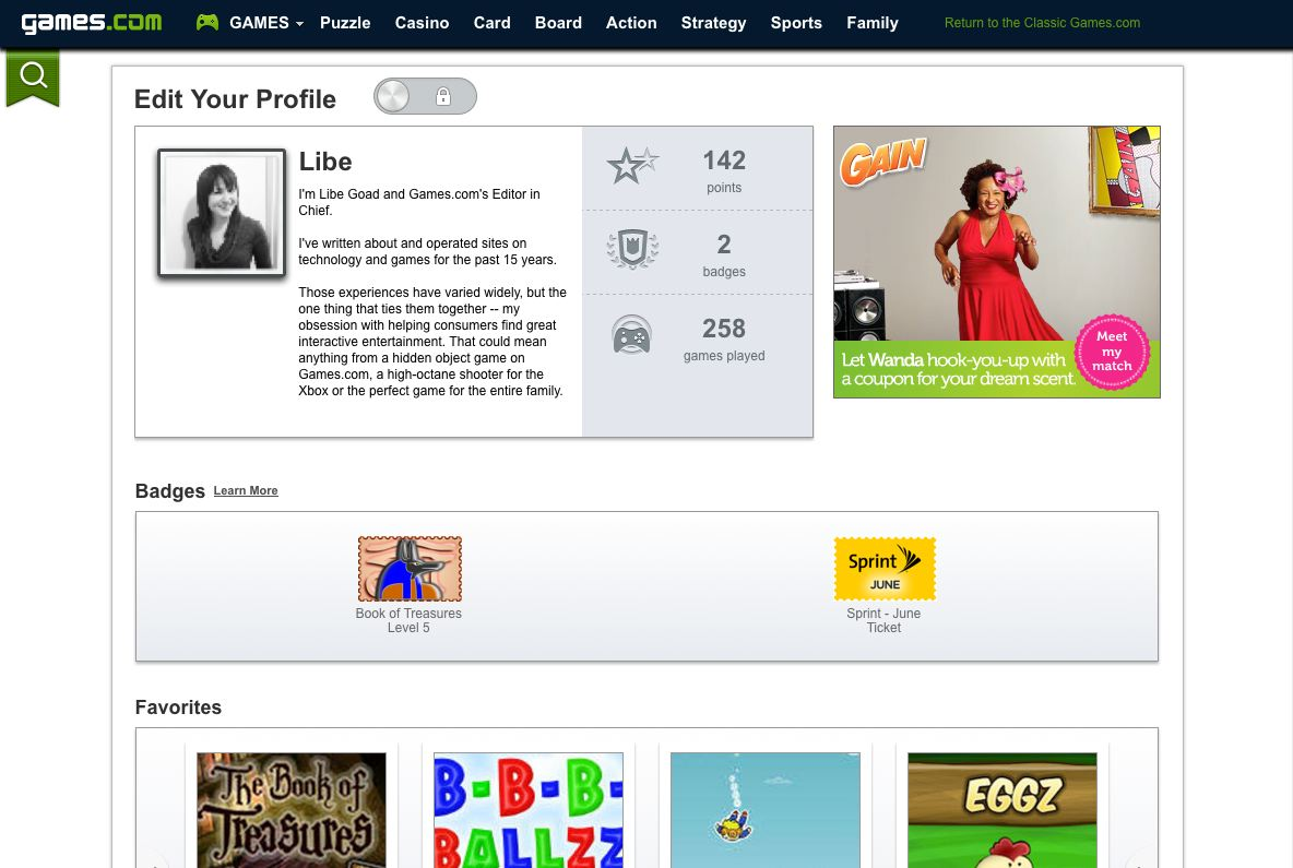 games.com profile page