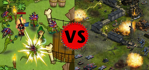 Dungeon Rampage versus War Commander