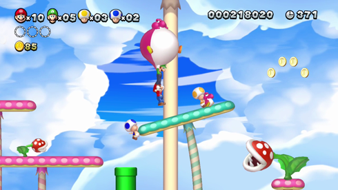 New Super Mario Bros. U screens