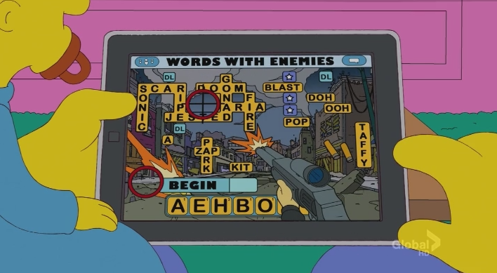 wordswithenemies The Simpsons dont play Words With Friends, but Words with