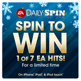 Win free iOS games this Christmas from EA Mobile's Daily Spin