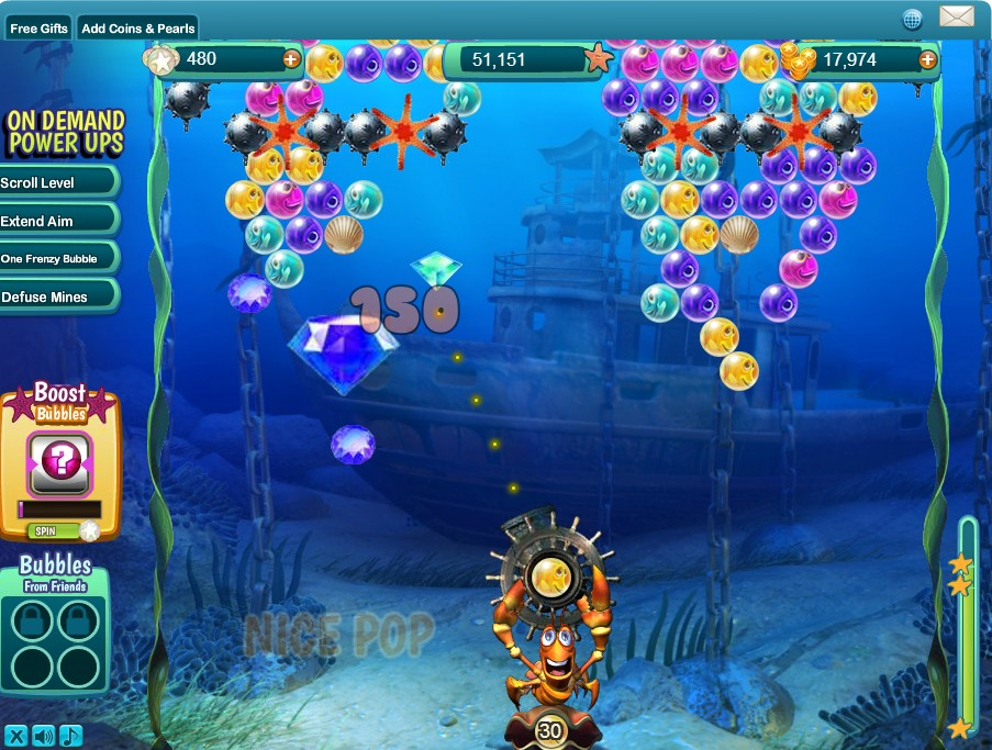 Bubble Safari Ocean screens