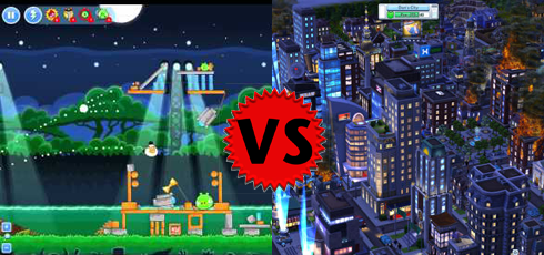CityVille 2 versus Angry Birds Friends