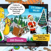 The Simpsons: Tapped Out Holiday Offer- Santa's Village, Santa Homer And Tree