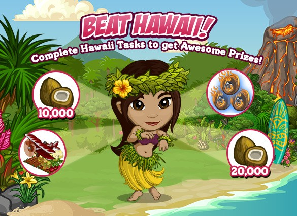 FarmVIlle New, Fun Hawaiin Paradise quests