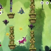 Swipe and fling the King through obstacles in Swing King on iOS