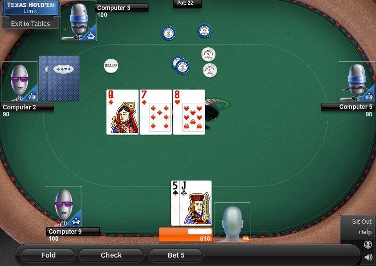 play texas holdem online against computer