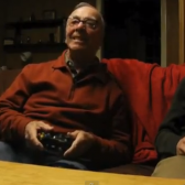 This 84-year-old grandfather reacts to video games in the best ways