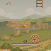 Protect a golden coin in Hide Caesar 2 on Games.com