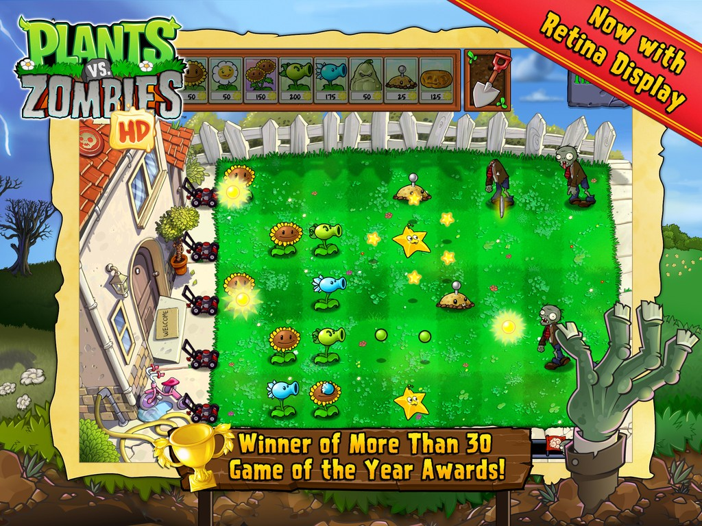 Plants vs zombies goes free on ios for one week only