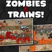 Unleash the power of trains on a horde of the undead in Zombies &amp; Trains, now on Android