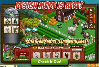 FarmVille Design Mode