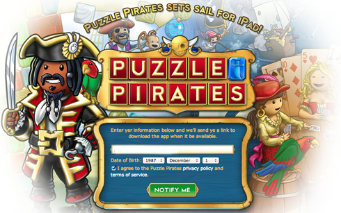 Puzzle Pirates iPad