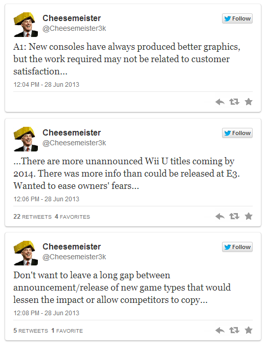 Cheesemeister tweets