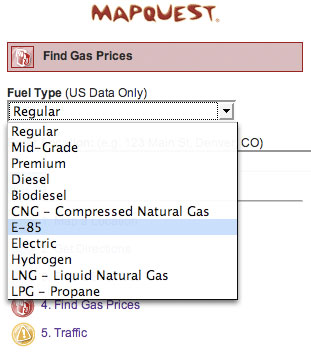 MapQuest for Mobile - Find Gas Prices