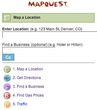 MapQuest for Mobile - Map a Location