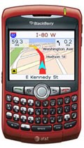 Blackberry Curve on AT&T running MapQuest Navigator