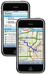 MapQuest on iPhone