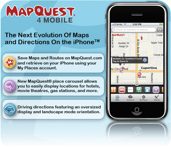 Maps amp directions evolution on the iphone mapquest blog