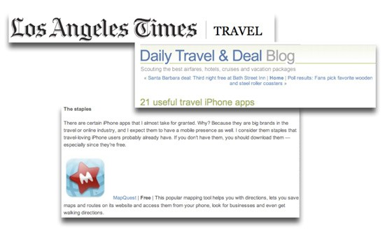 Screenshots of Los Angeles Times Article