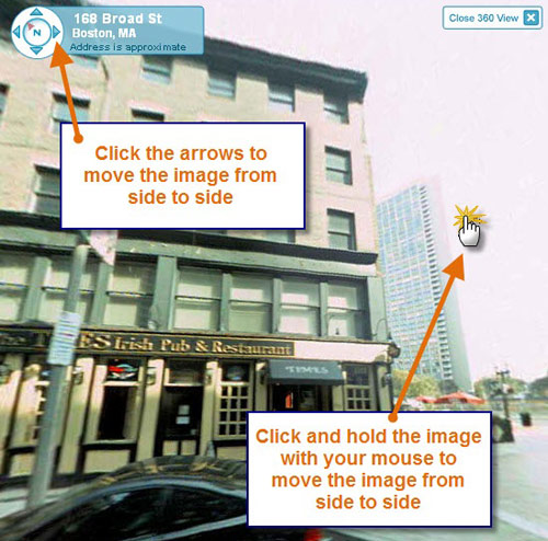 How to rotate image in MapQuest's 360 View