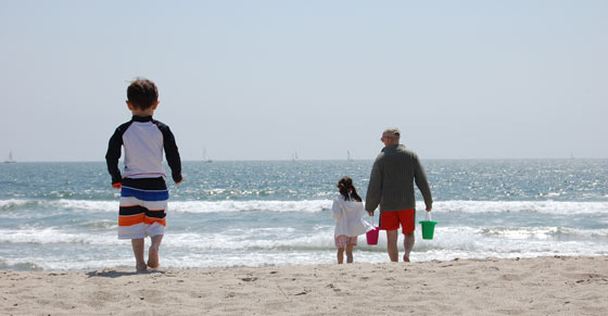 Ann Koerner's, Director of MapQuest Consumer Products, family  vacation to the beach.