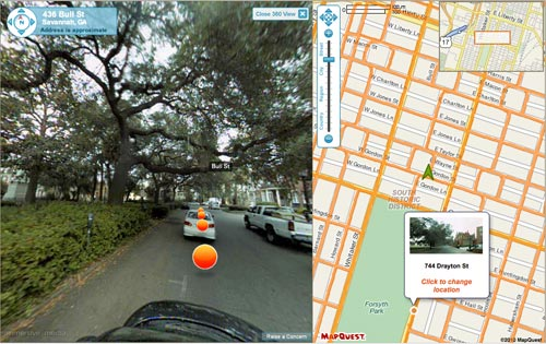 MapQuest 360 View of Savannah, GA