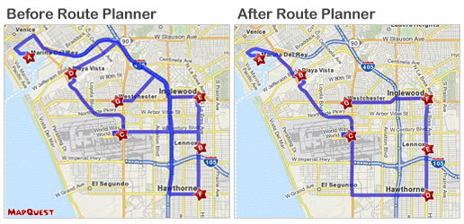 MapQuest Route Planner Optimizes  Trip Routes