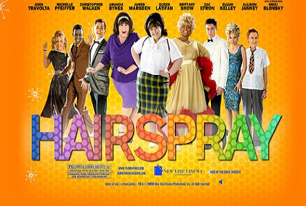 hairspray movie poster. new Hairspray website,
