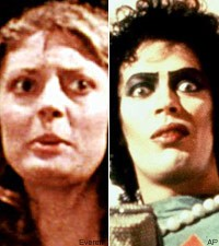 Susan Sarandon and Tim Curry in The Rocky Horror Picture Show