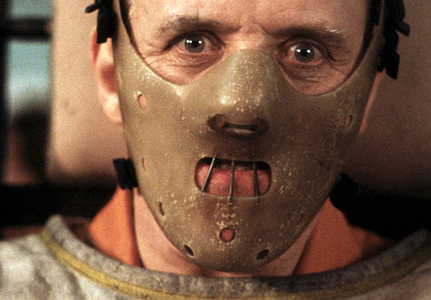 Anthony Hopkins as Hannibal Lector in 'The Silence of the Lambs'
