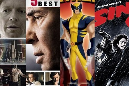 'Caprica,' 'Frost/Nixon,' 'Wolverine and the X-Men Heroes Return Trilogy,' 'Sin City'