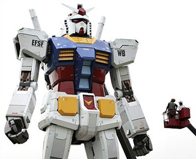 gundam giant robot japan