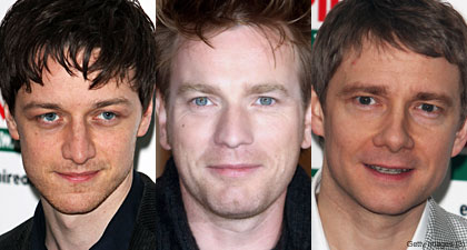 James McAvoy Ewan McGregor and Martin Freeman