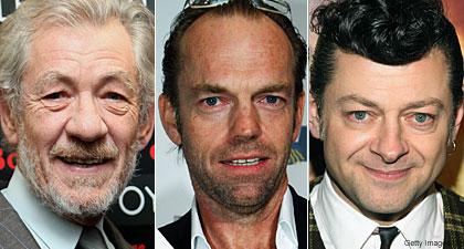Ian McKellen Hugo Weaving and Andy Serkis