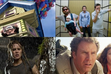 Monday Night Poll: (clockwise from upper left) 'Up,' 'The Hangover,' 'Land of the Lost,' ' Drag Me to Hell'