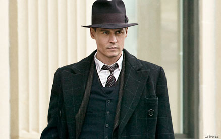 Johnny Depp Public Enemies. Johnny Depp, Christian Bale